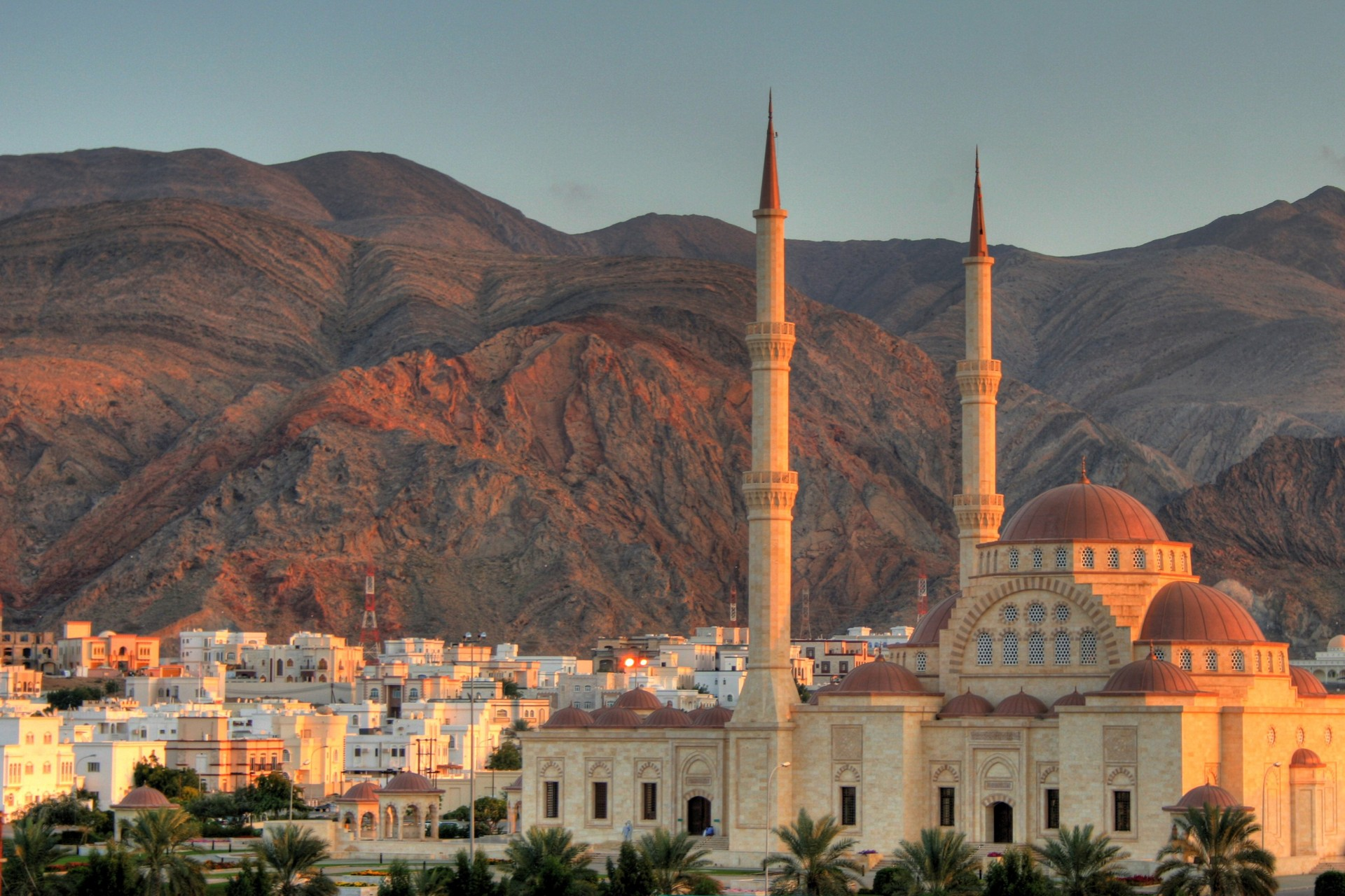 Sunset over Muscat, Oman