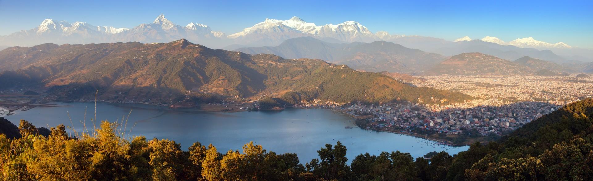 Views over Pohkara Valley landscape