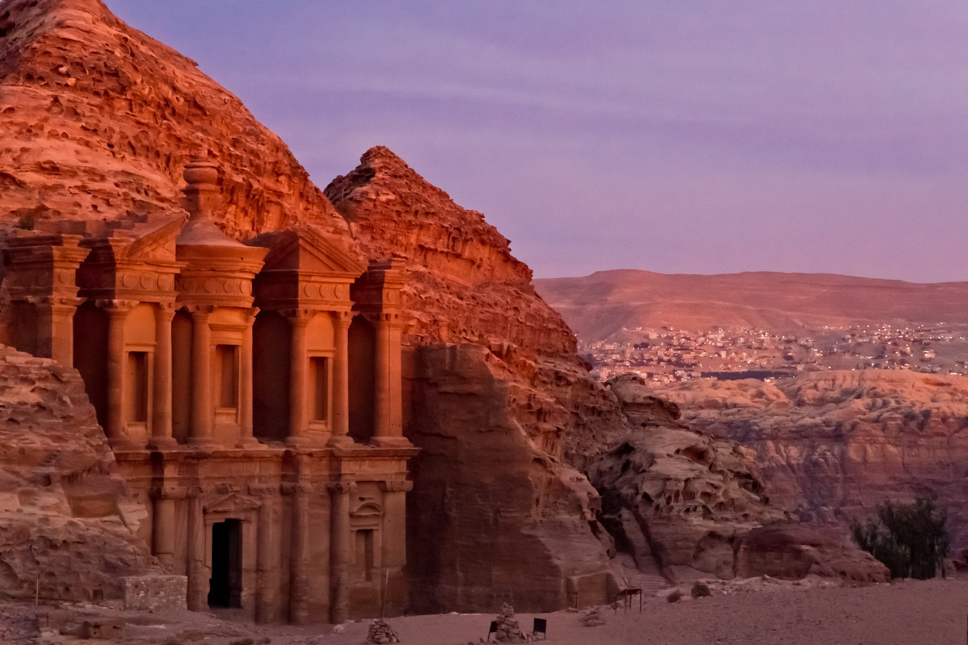 The Monastery at Petra - sunset