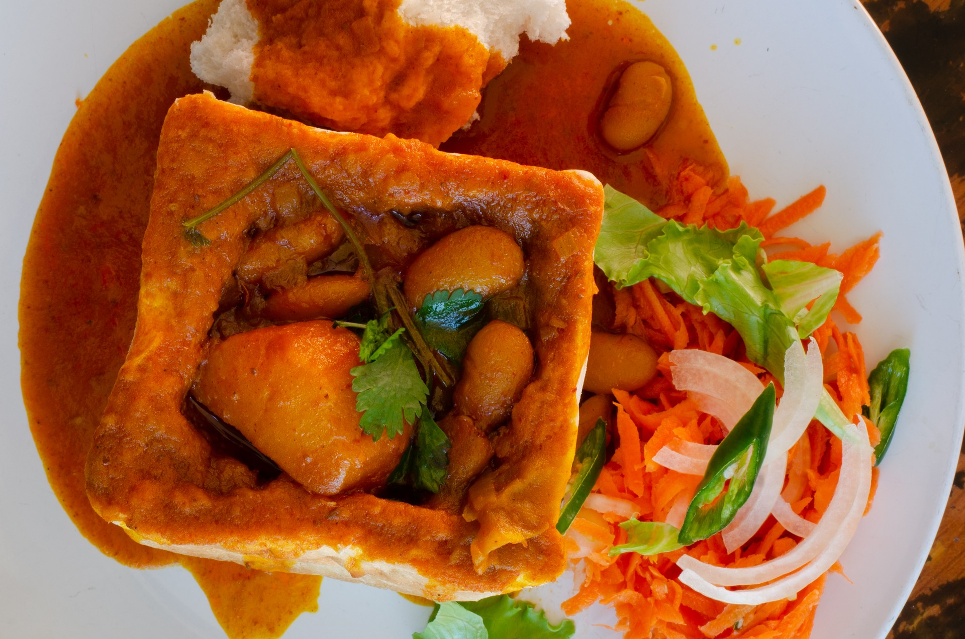 Bunny chow in Durban