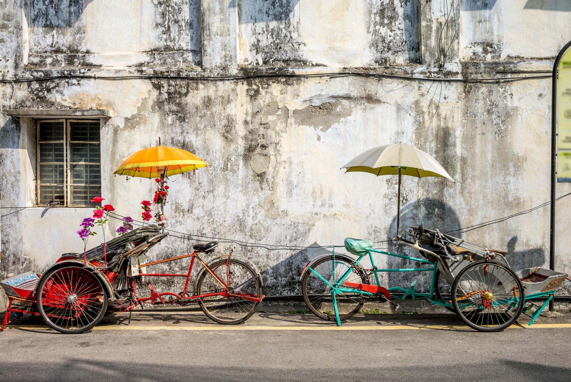 Trishaw cabs in Penang