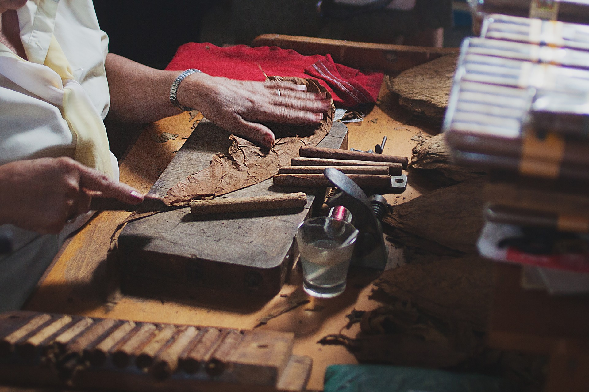 Cigar making in Cuba