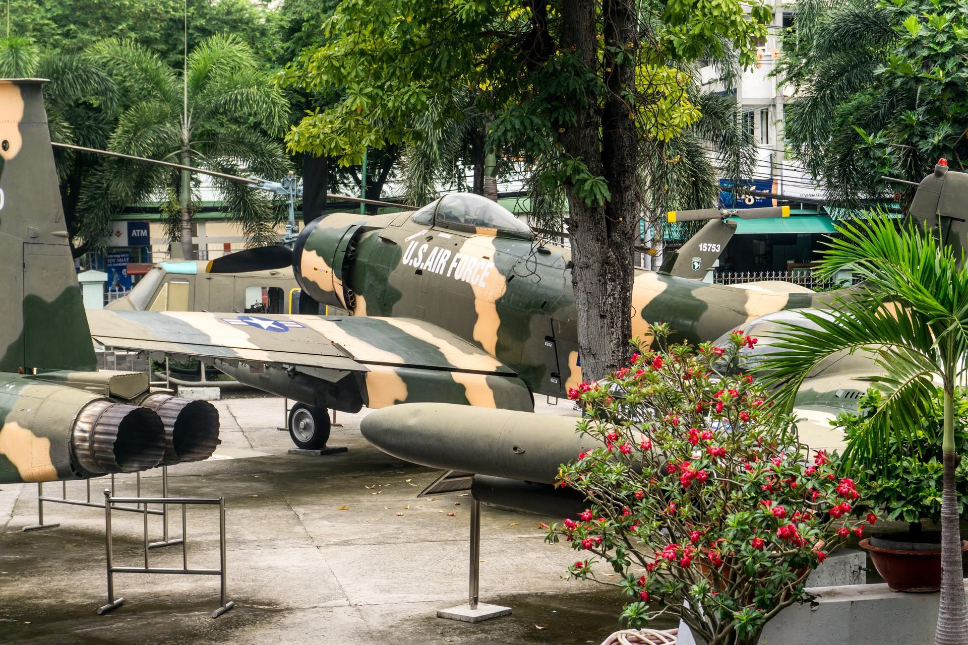 American planes in War Remnants museum, Ho Chi MInh Vietnam