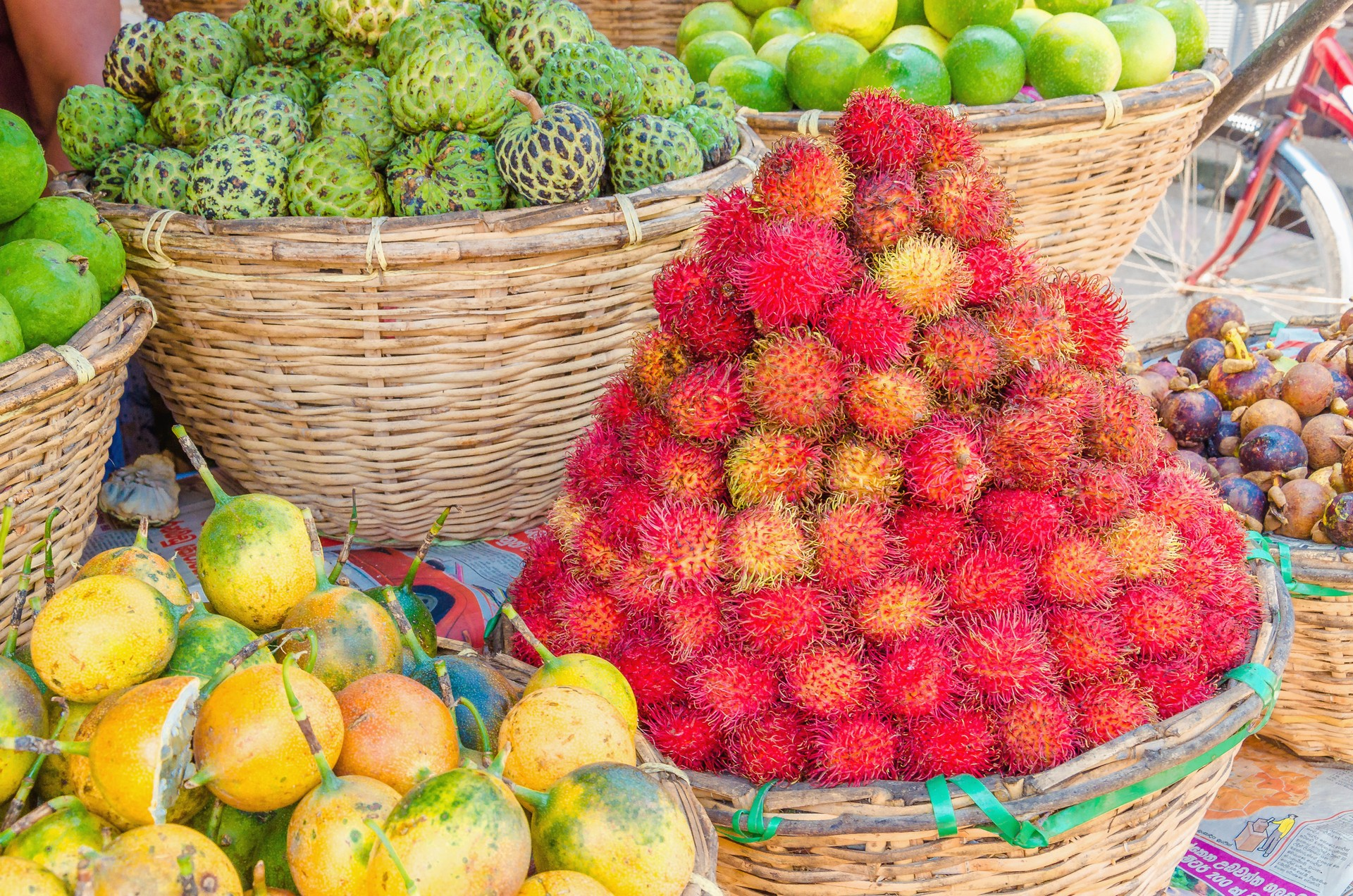 Some colourful fruit at a market