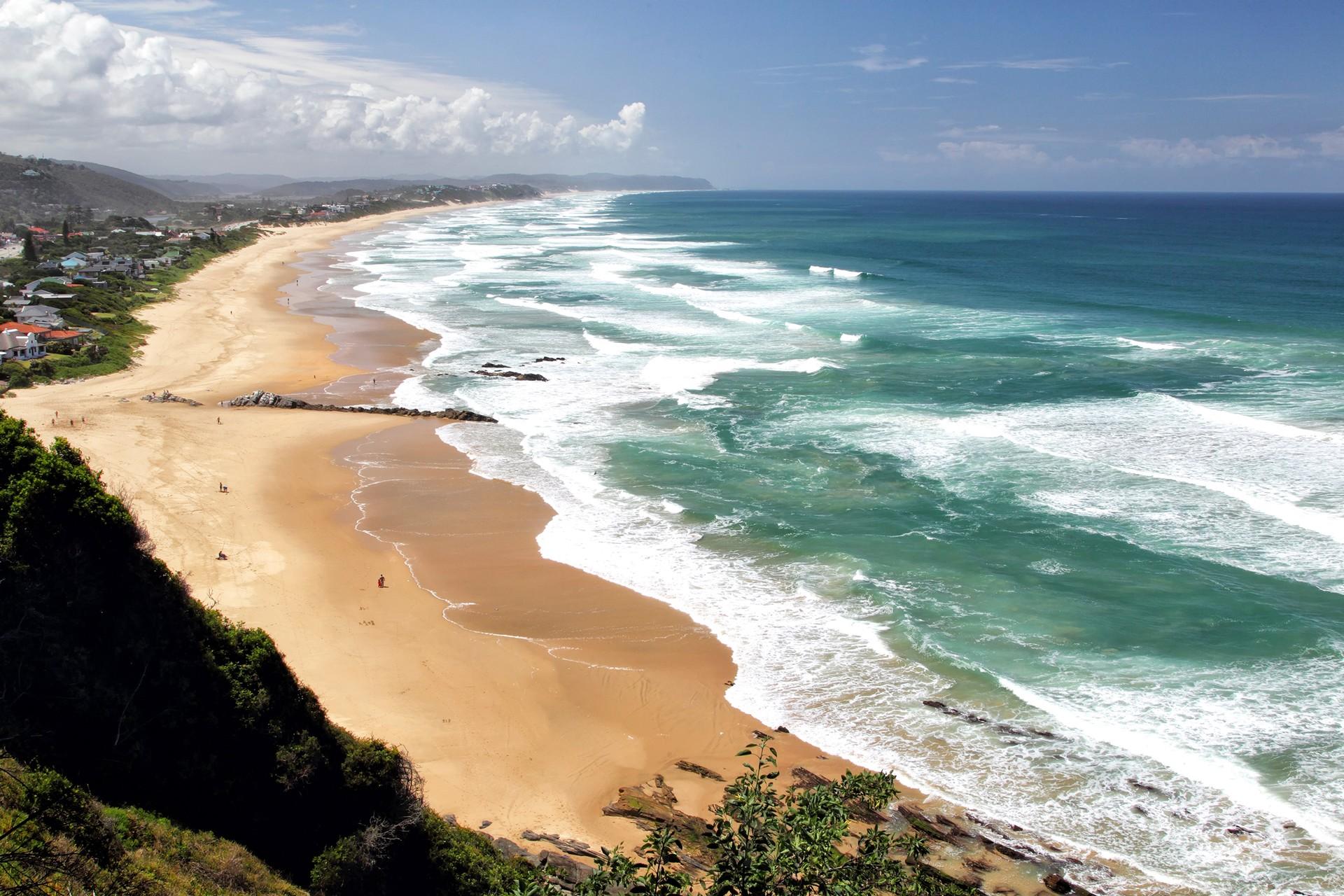 Wilderness beach in South Africa on Garden Route