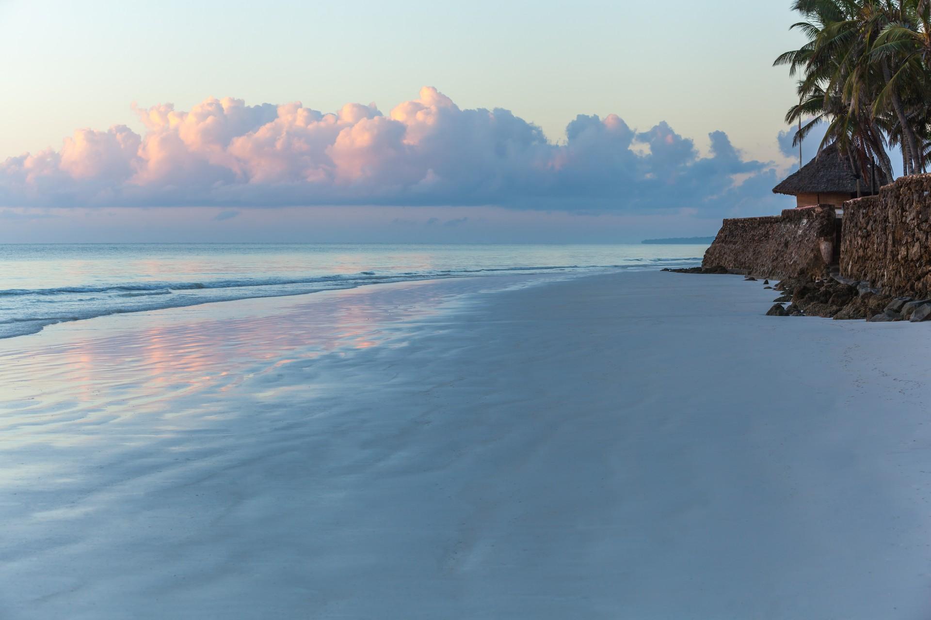 Sunrise over a beach in Kenya