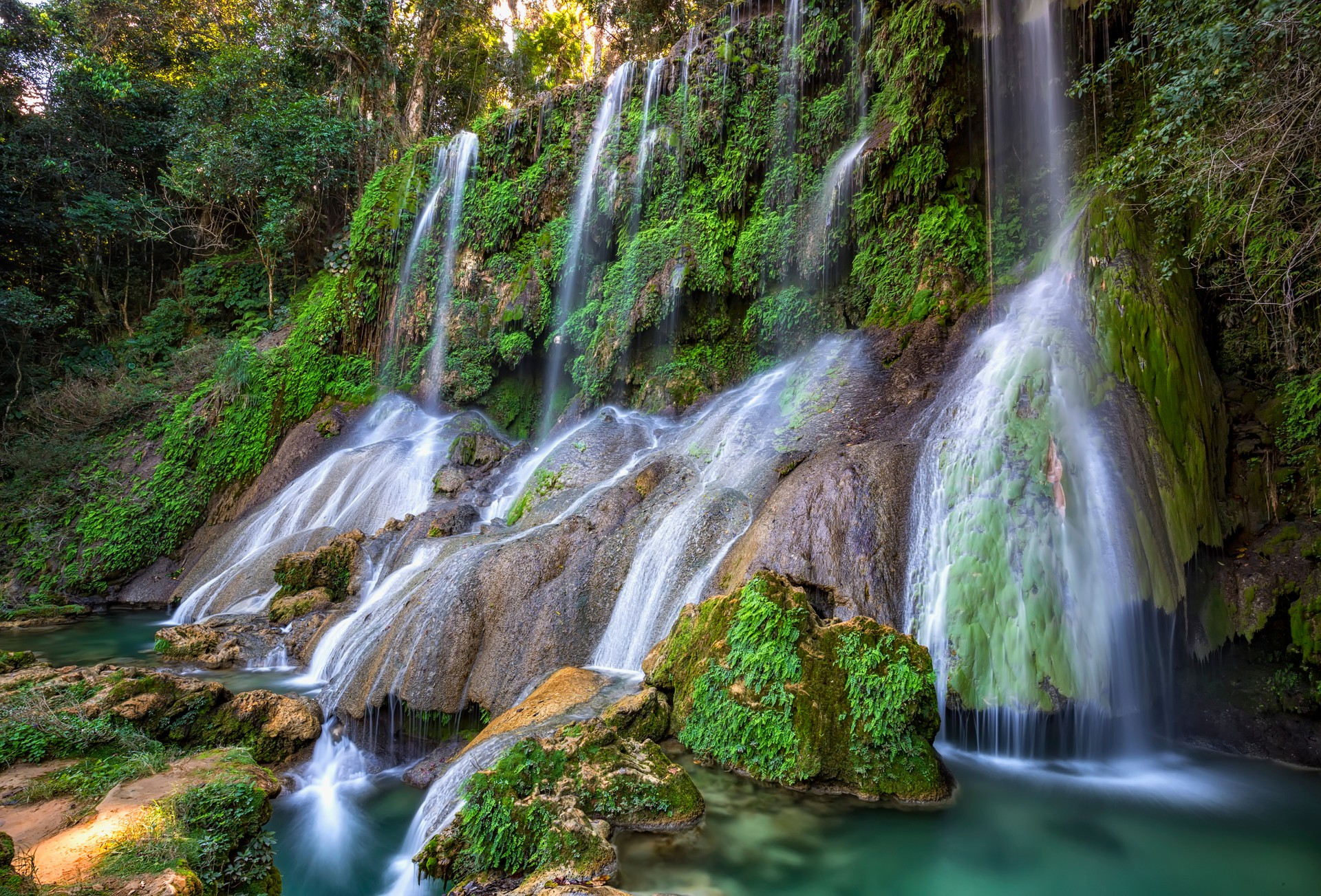 The El Nicho Falls in Cuba