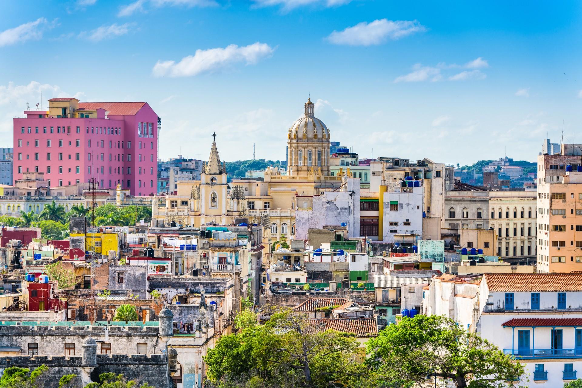 The Havana skyline in Cuba