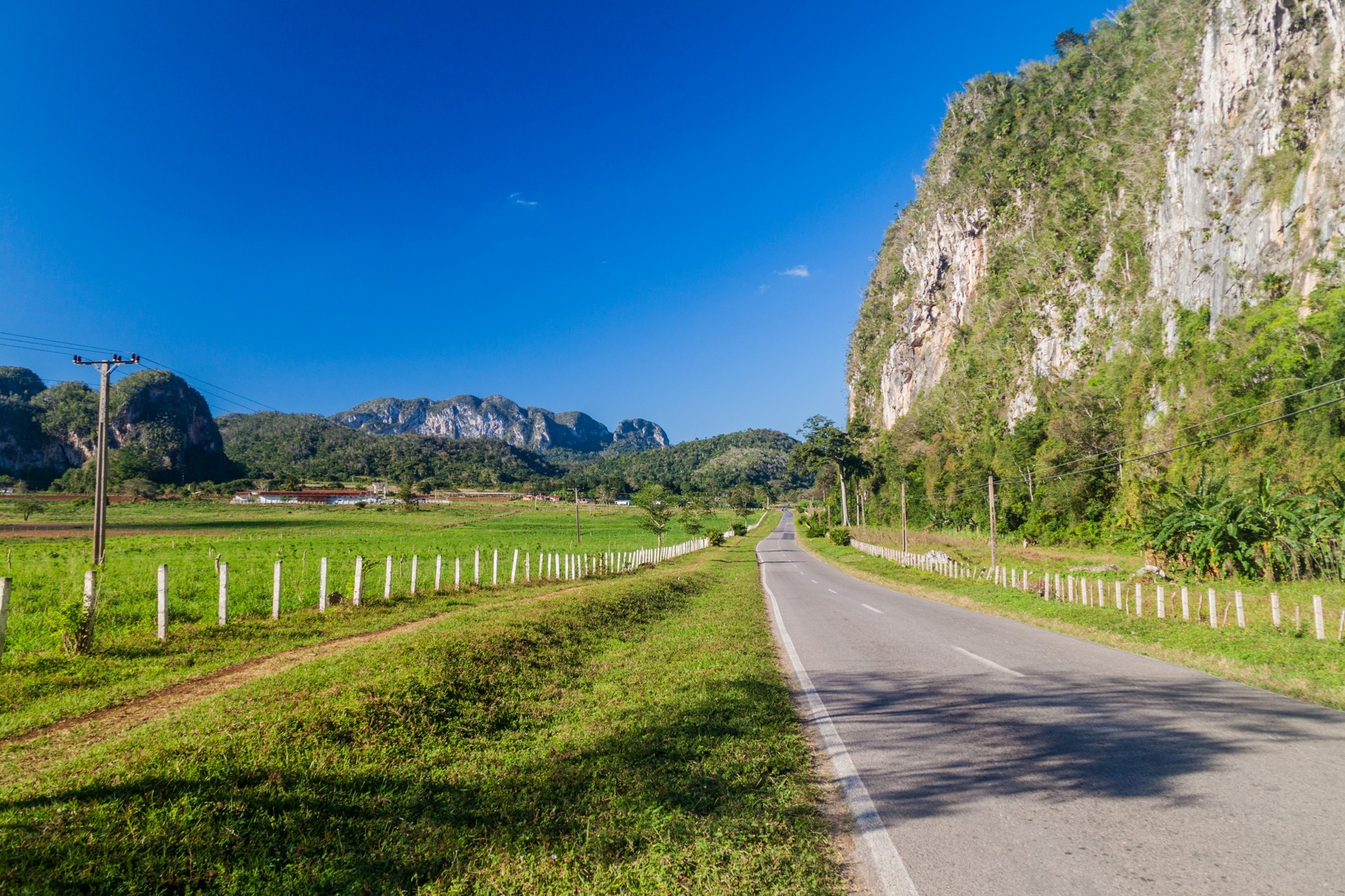 Views of the mogotes in Vinales on a road trip to Cuba