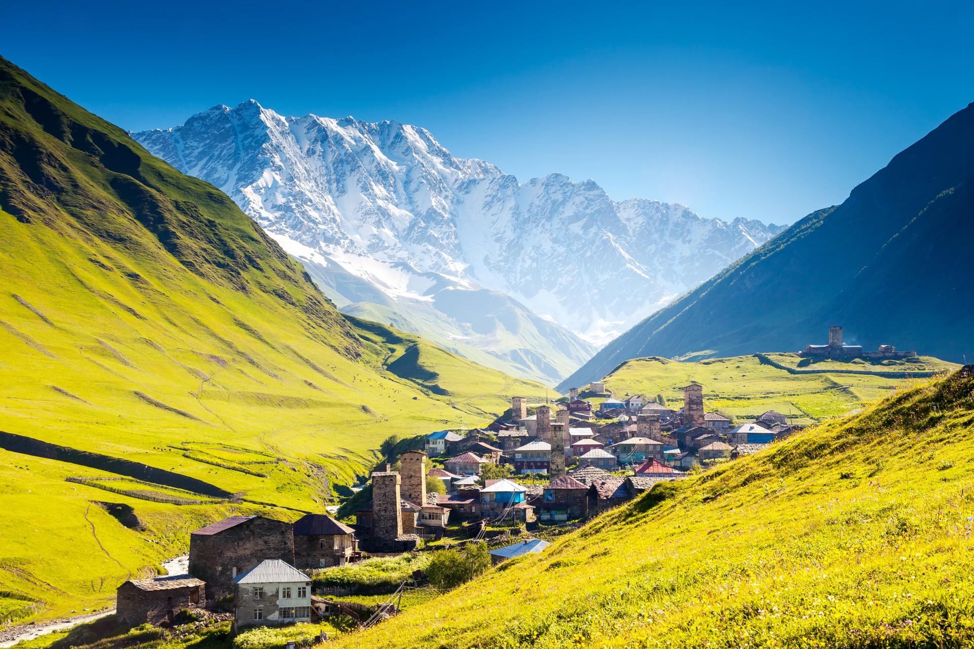 Ushguli village in the Svaneti region