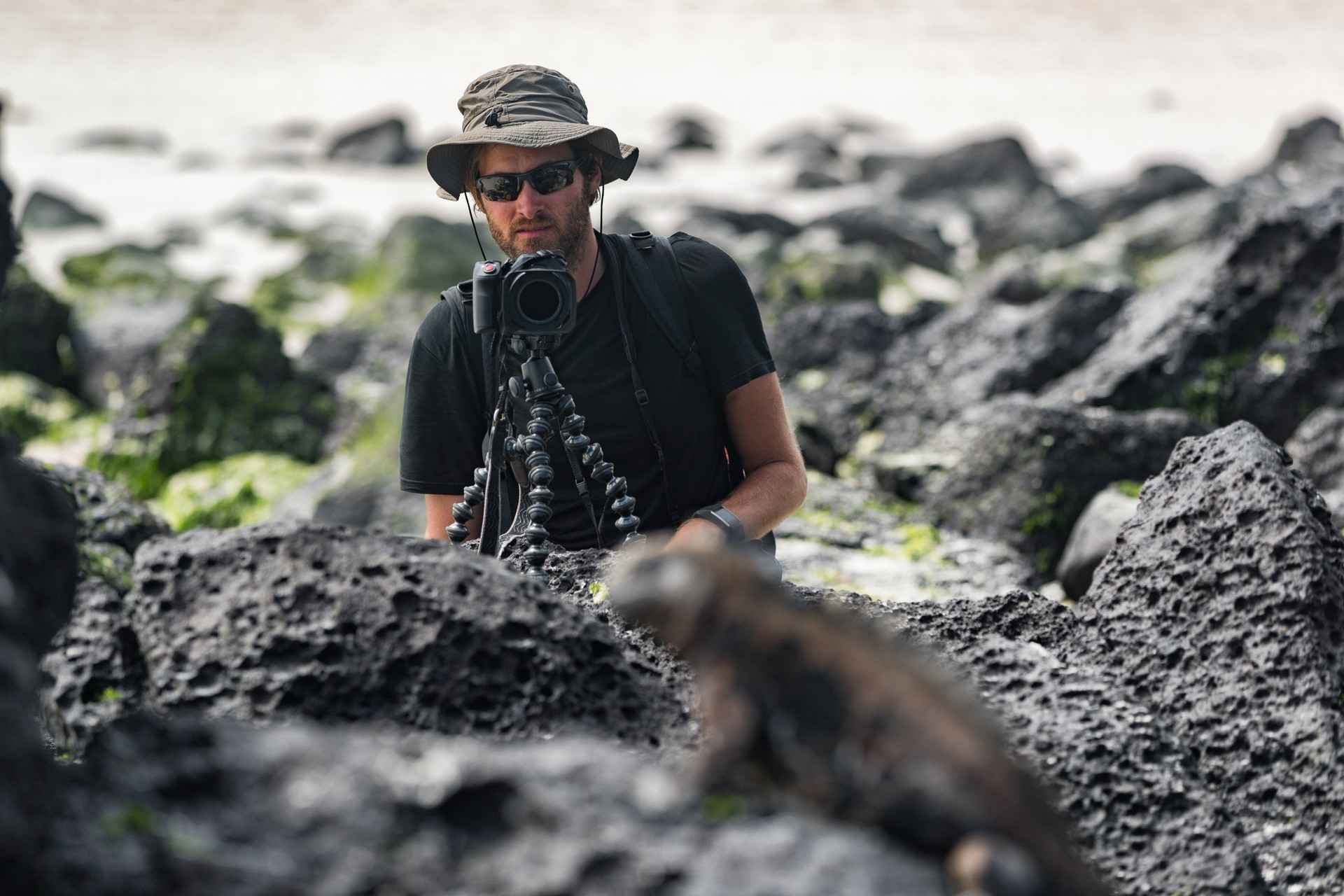 Photographer in galapagos