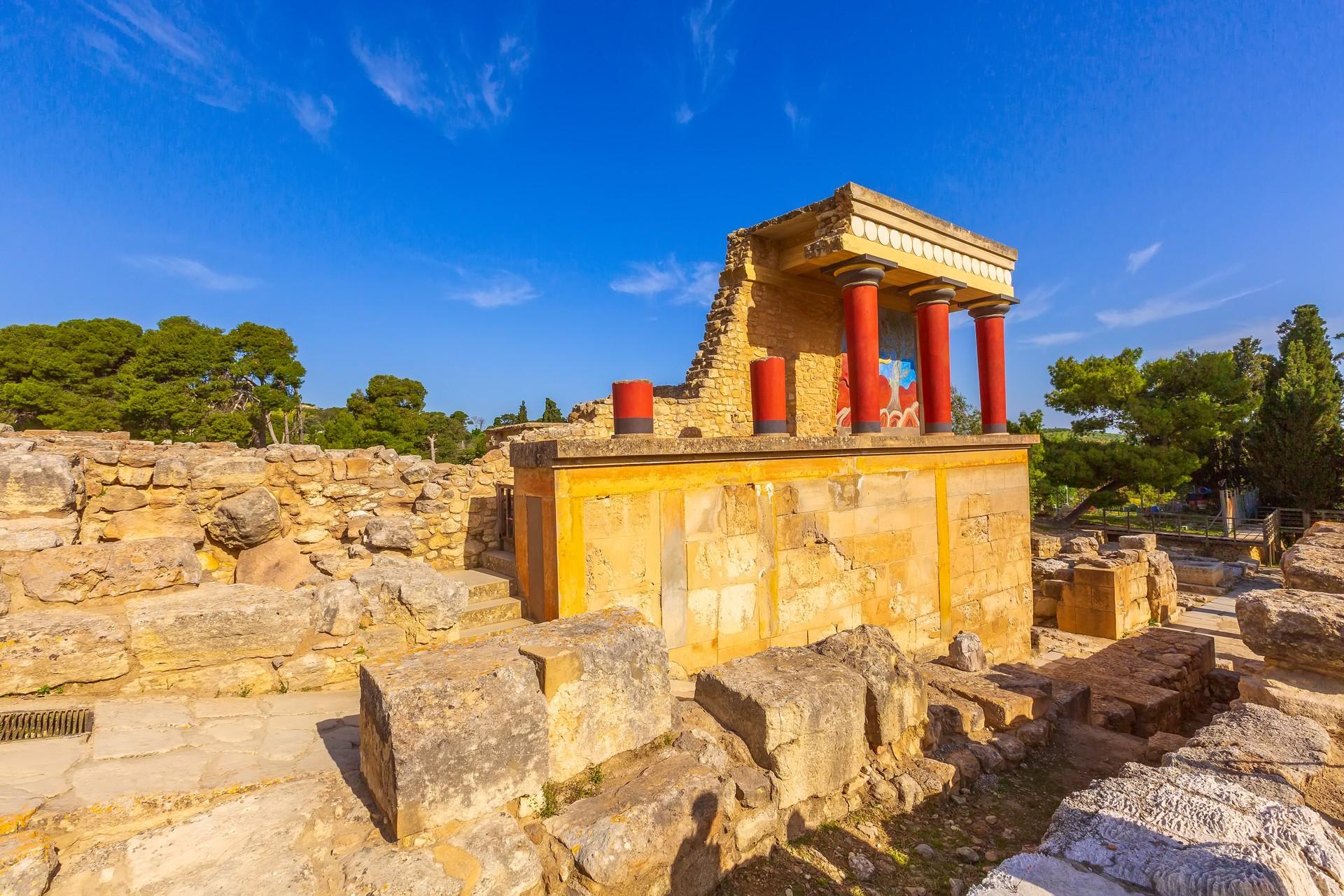 Knossos in Crete, Greece