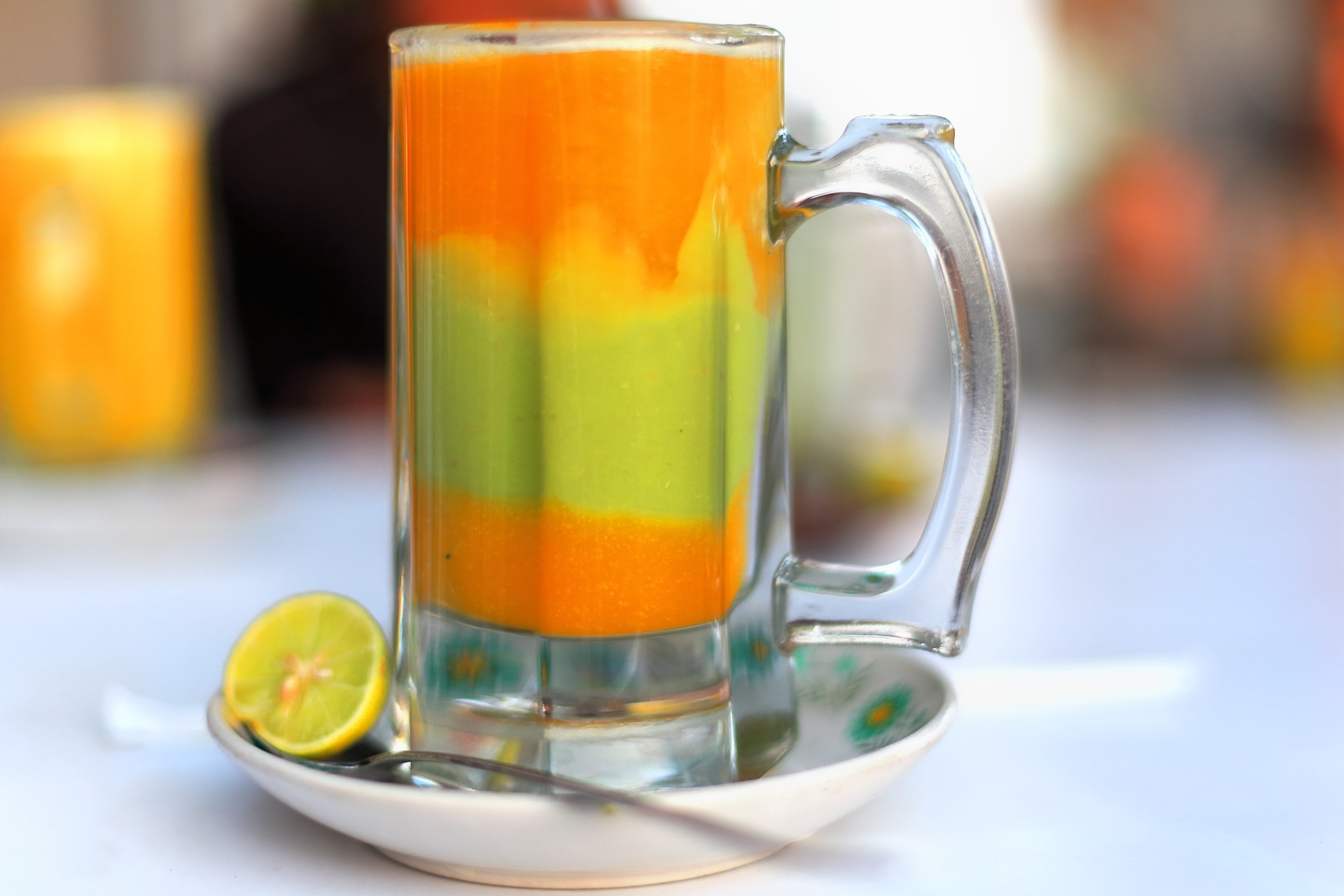 Layered fruit drink in Ethiopia