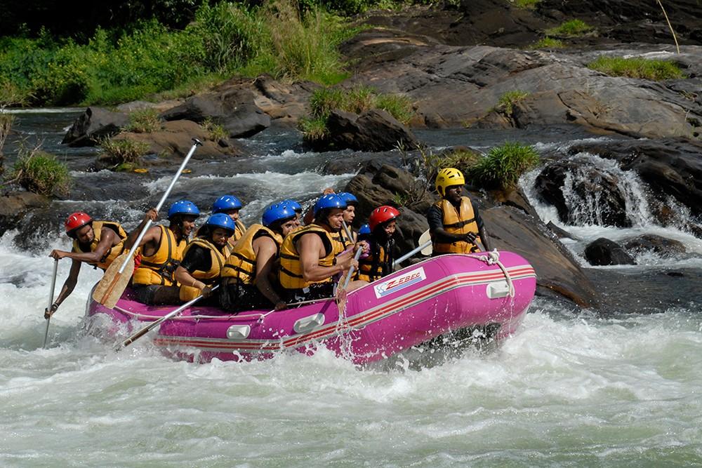 White water rafting in Kithulgala, Sri Lanka