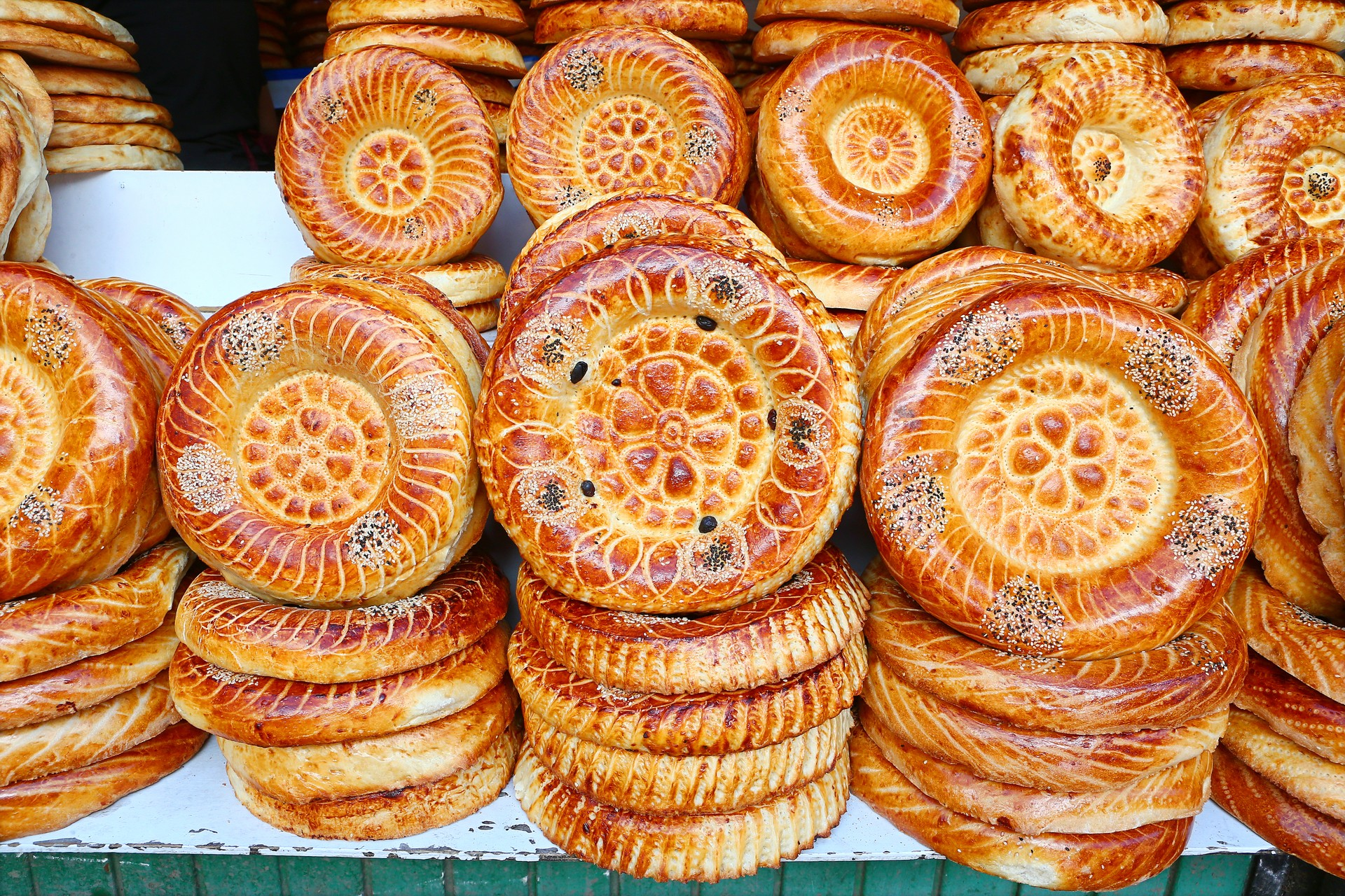 Traditional bread in Bishkek, Kazakhstan