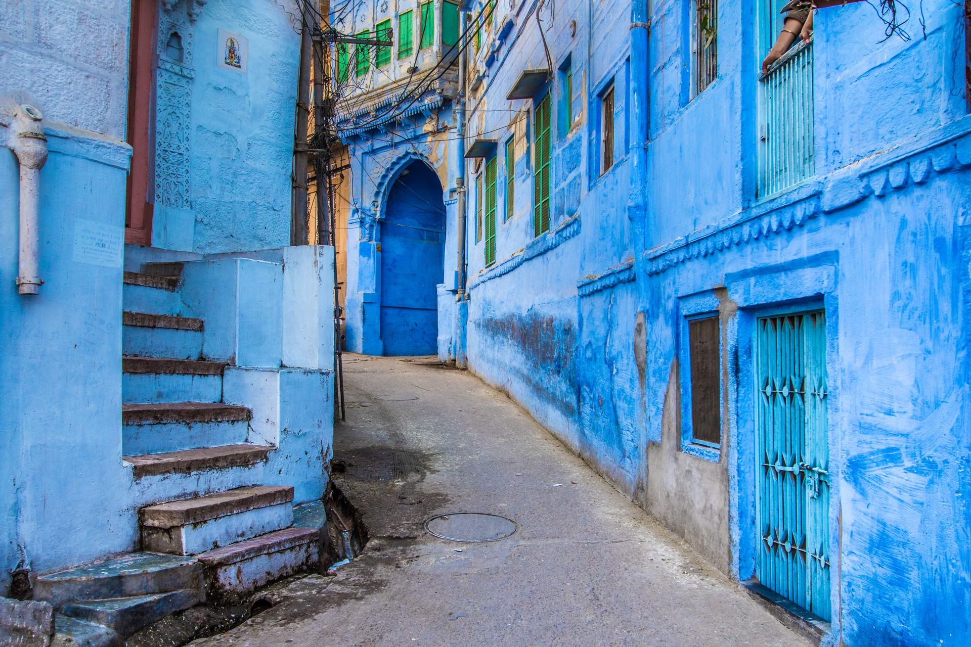Blue streets of Jodhpur, India