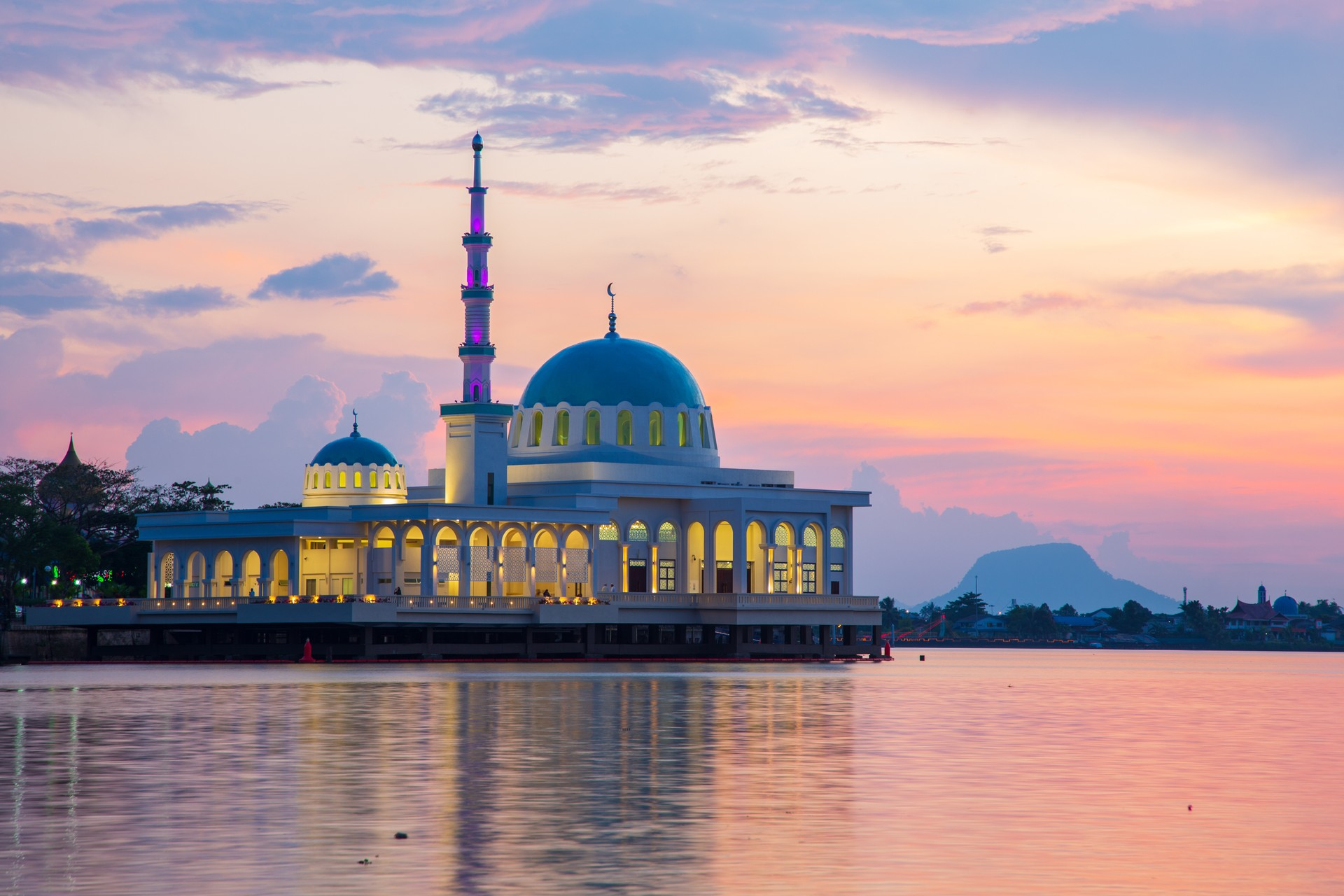 Borneo holidays: Floating mosque in Kuching