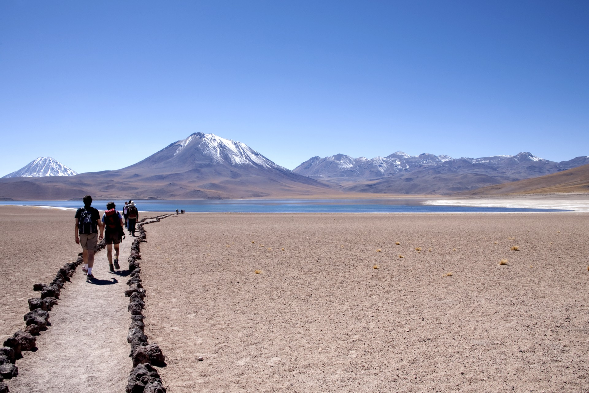 Hikers in the Atacama Desert in Chile