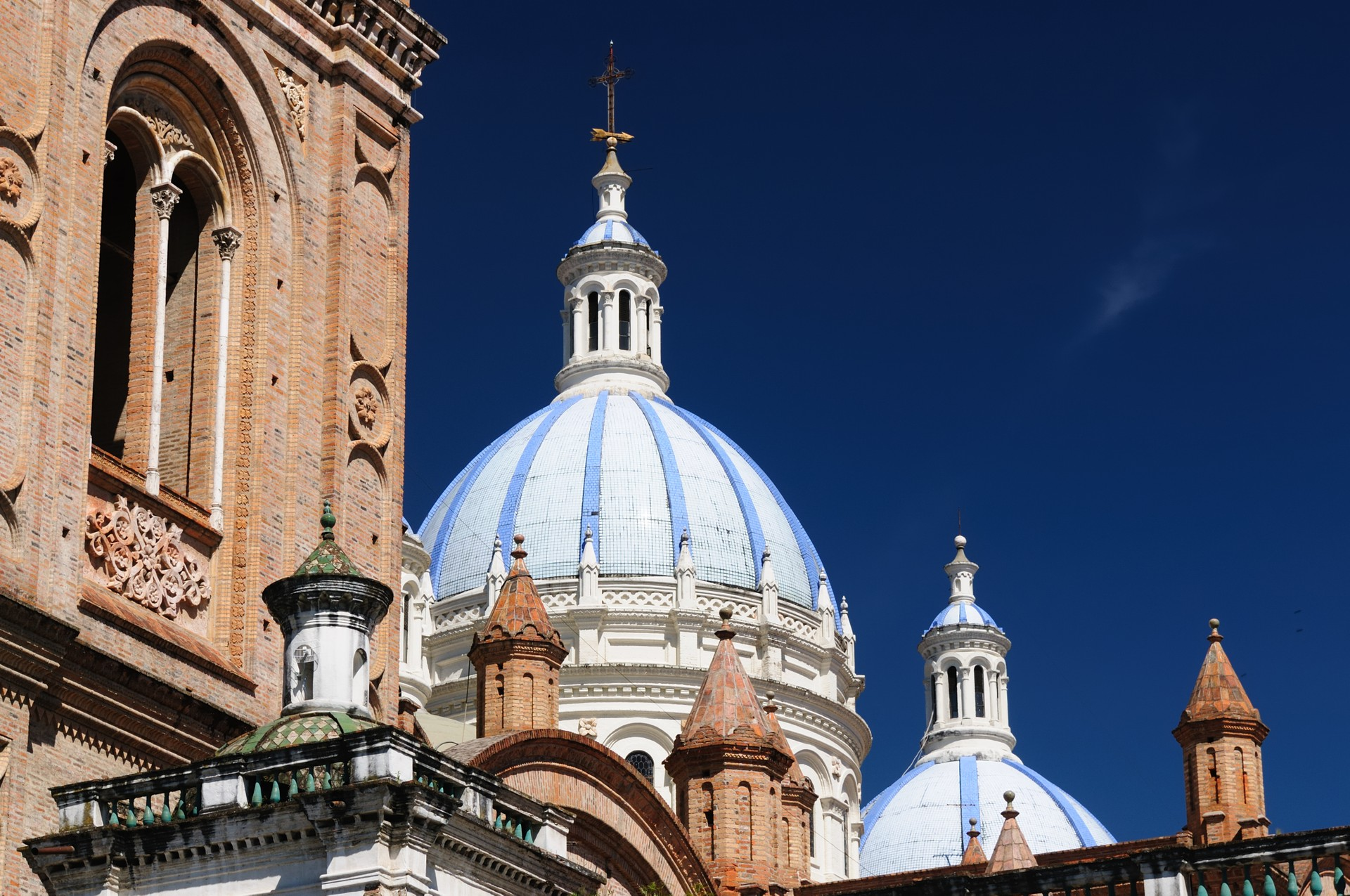 Church domes in Cuenca, Ecuador