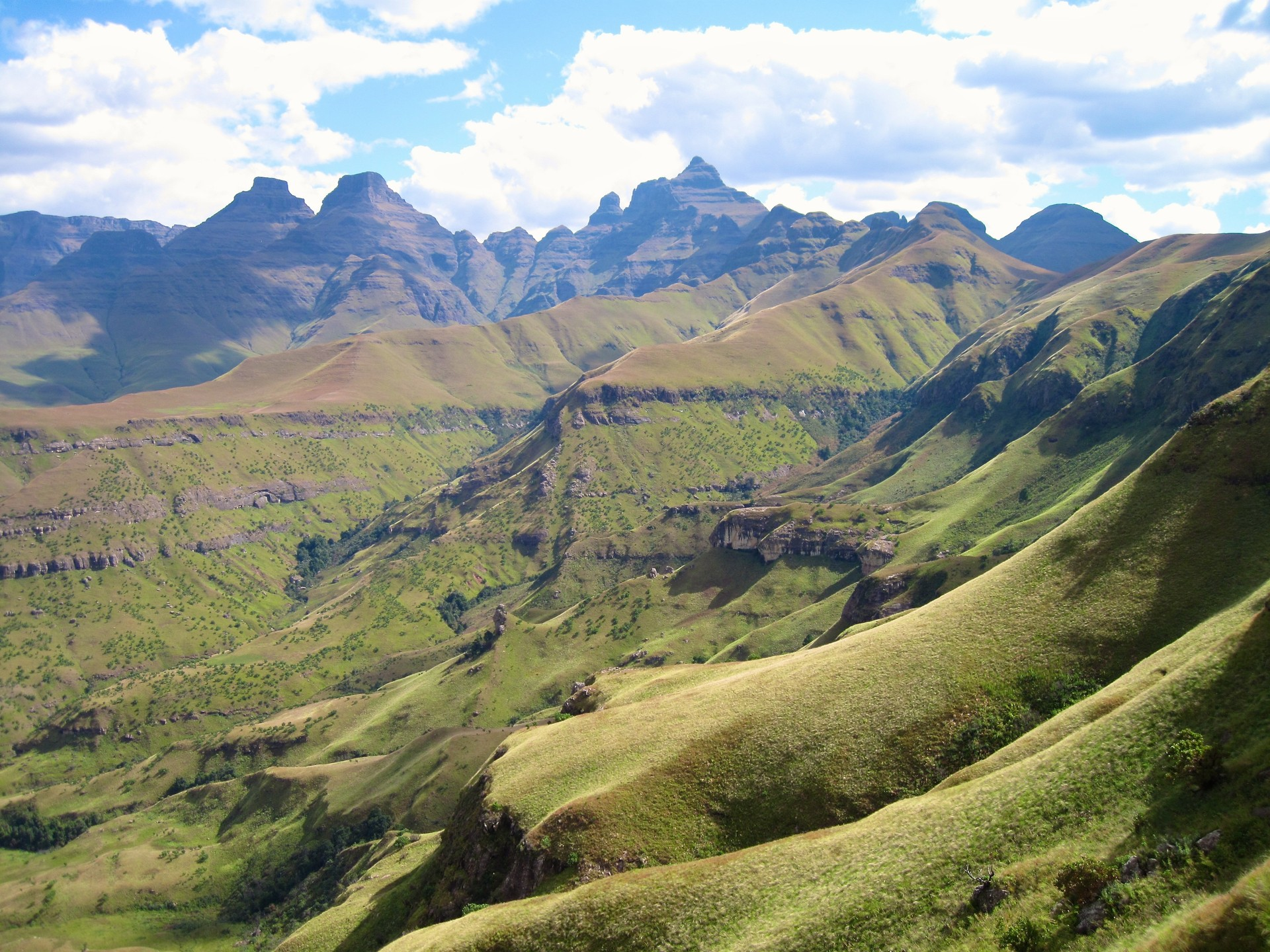 View of Cathedral Peak, Drakensberg mountains, South Africa