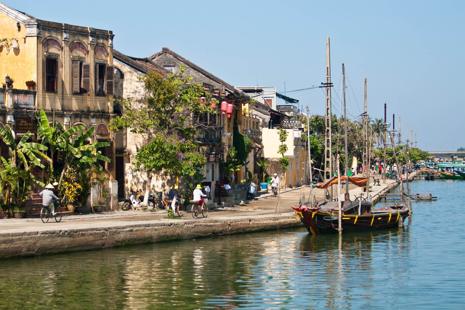 Old Town harbour of Hoi An, Vietnam