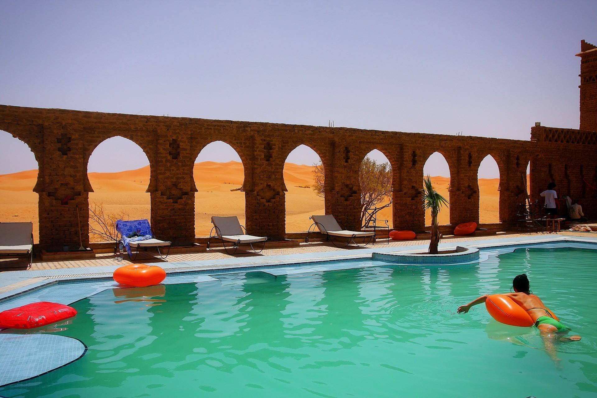 desert swimming pool morocco