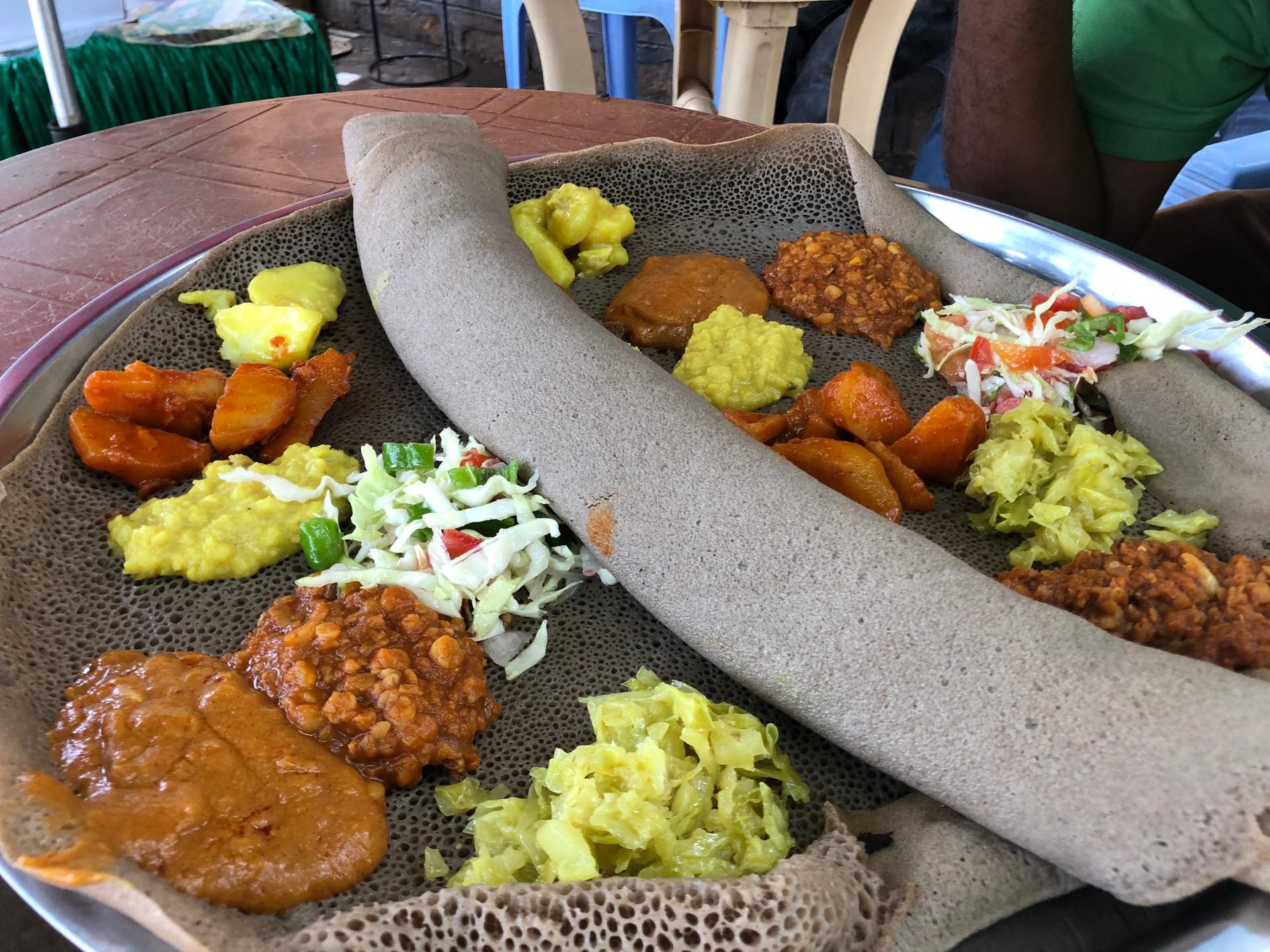 Injera on fasting day (vegetarian)