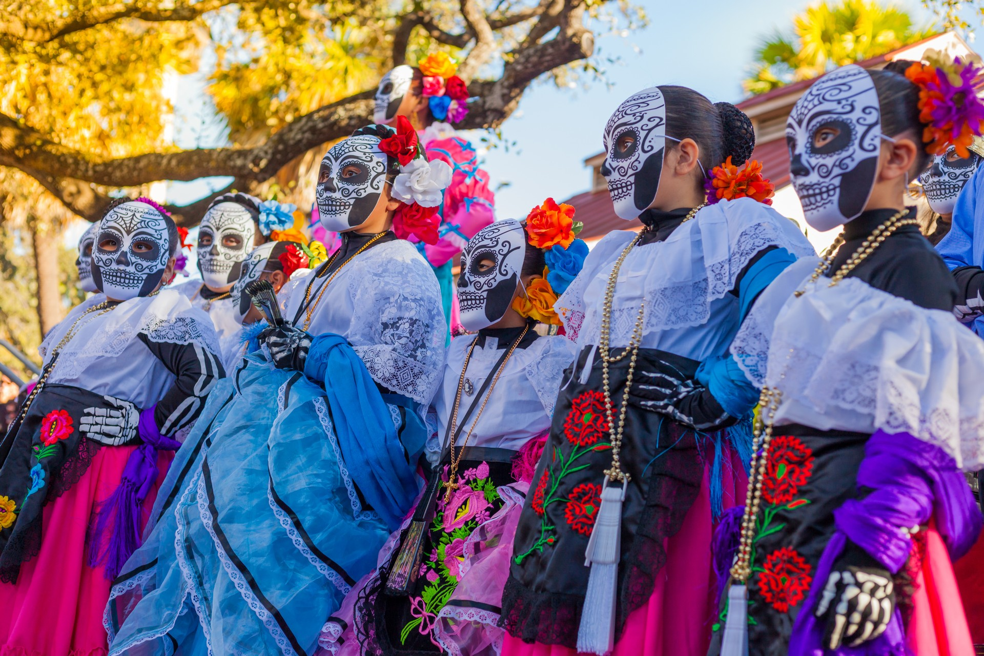 How to experience Mexico's famous Day of the Dead: A group enjoying the festivties