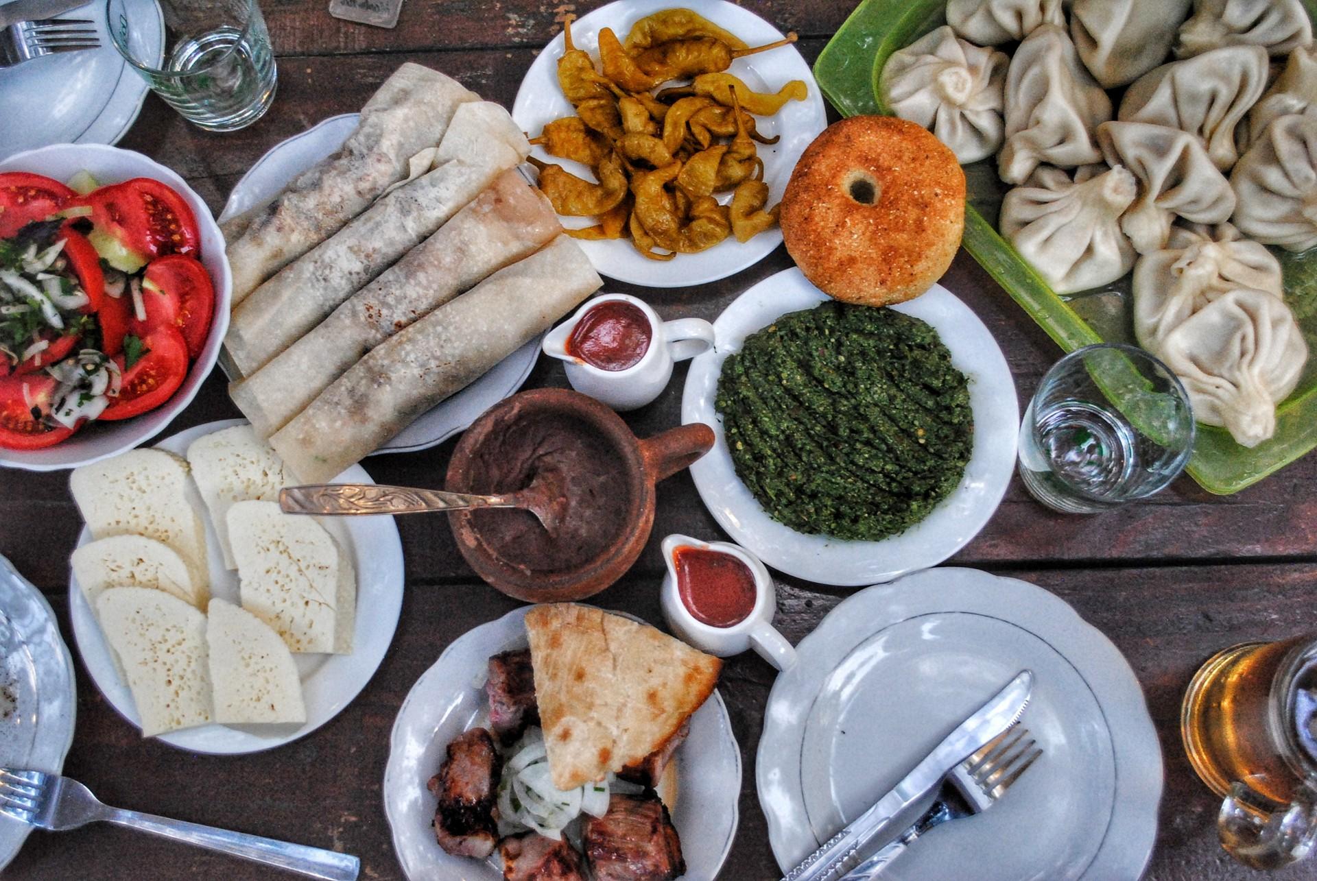 Georgia food tour - dinner spread