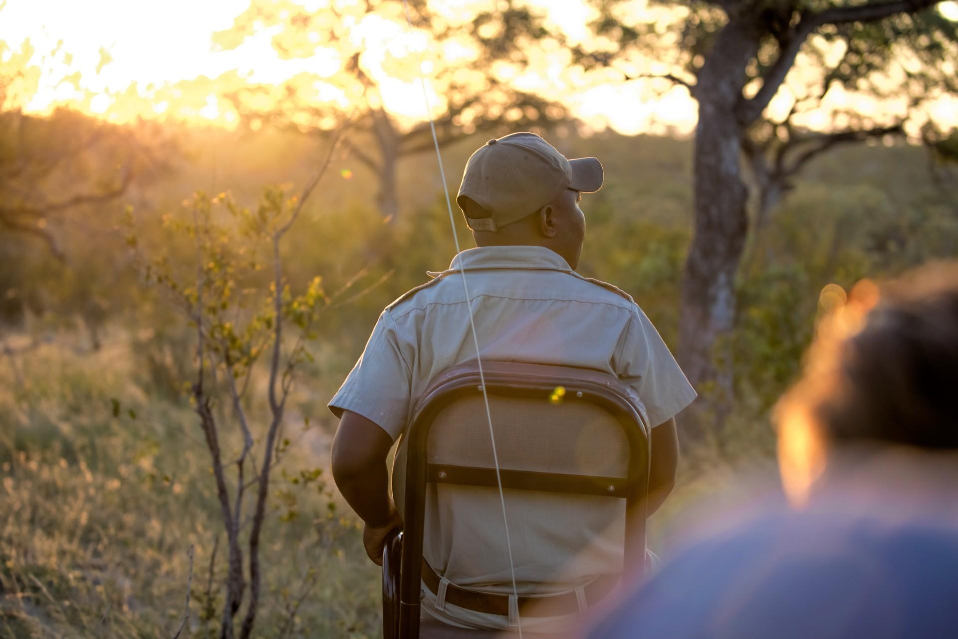 Safari tracker on vehicle in Kenya