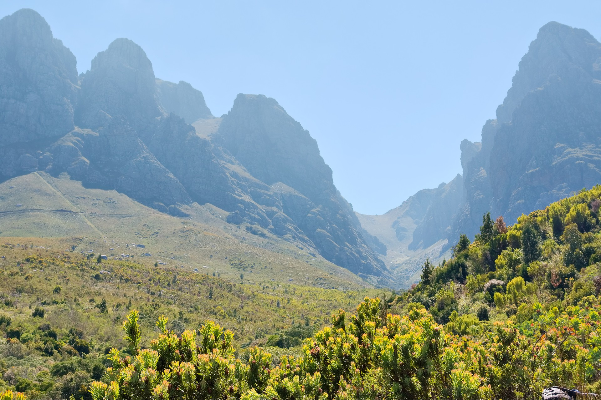 The green mountains of Somerset in western South Africa