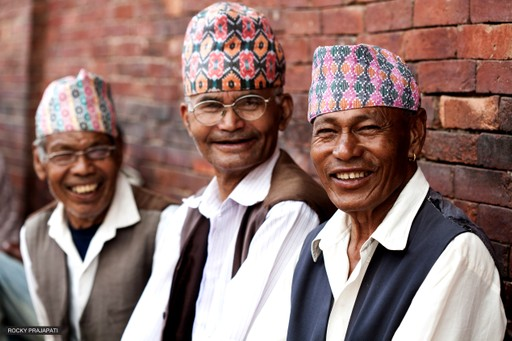 Smiling Nepalese men