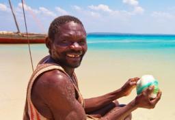 Quirimbas fishermen in dhow fishing boats