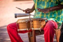 Street performer in Trinidad, Cuba