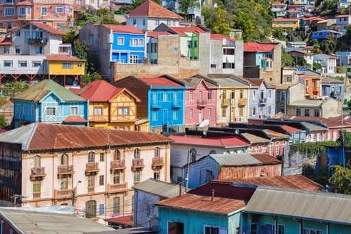 Colourful houses in Valparaiso