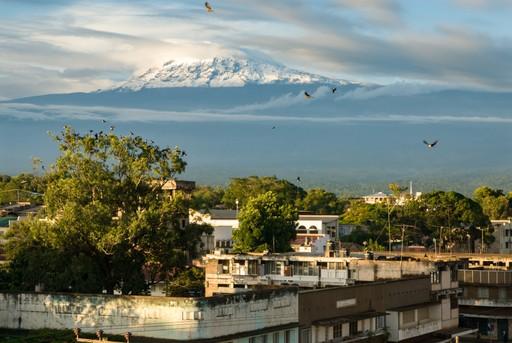 Mount Kilimanjaro seen from Moshi, Tanzania