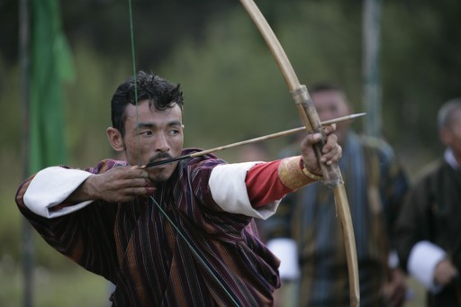 Traditional archer in Bhutan