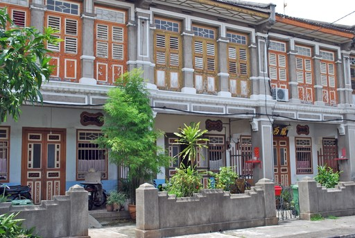 Typical George Town houses, Penang