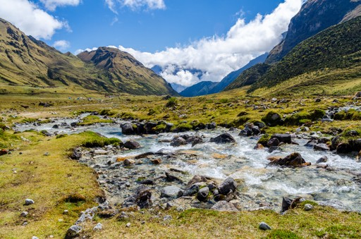 The Salcantay Mountains in Peru