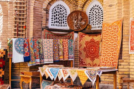 A stall at a bazaar in Khiva, Uzbekistan