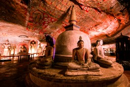 Inside Dambulla, Sri Lanka