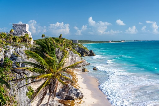 Tulum coastline Mexico