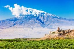 Mount Ararat and Khor Virap Monastery