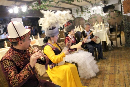 Traditional musicians in Bishkek