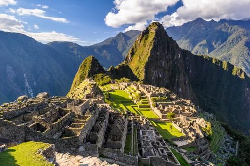 The Inca ruins of Machu Picchu