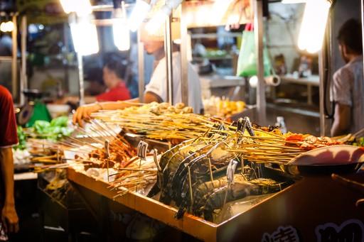 Street food stall in Jalan Alor, Malaysia