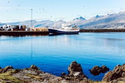 Typical fishing boat in Icelandic harbour