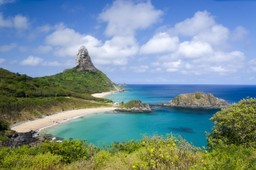 Beach of the Fernando de Noronha archipelago