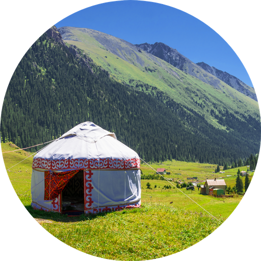 Yurt in Kyrgyzstan mountains