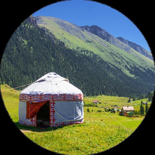 Yurt in Kyrgyzstan mountains